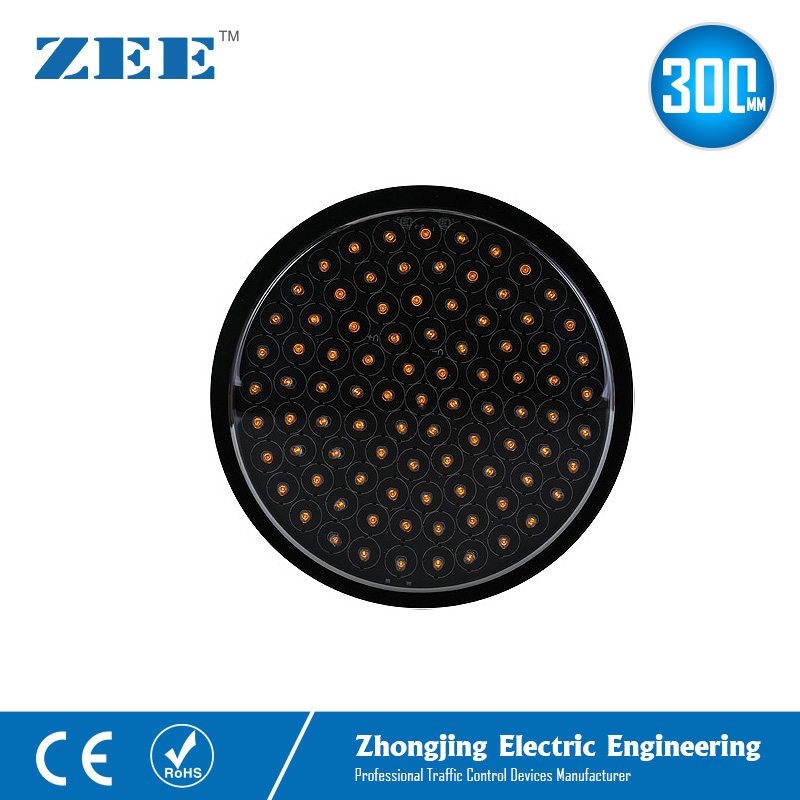 12 Inches 300mm Yellow Amber LED Traffic Lamp Round Replaced LED Traffic Light Module Solar Warning Traffic Modules