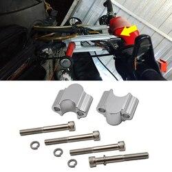 Silver Handlebar 30mm Riser Kit For 7/8 inches Bars Fits for Suzuki Kawasaki Honda Yamaha Motorcycle ATV Dirt Bike