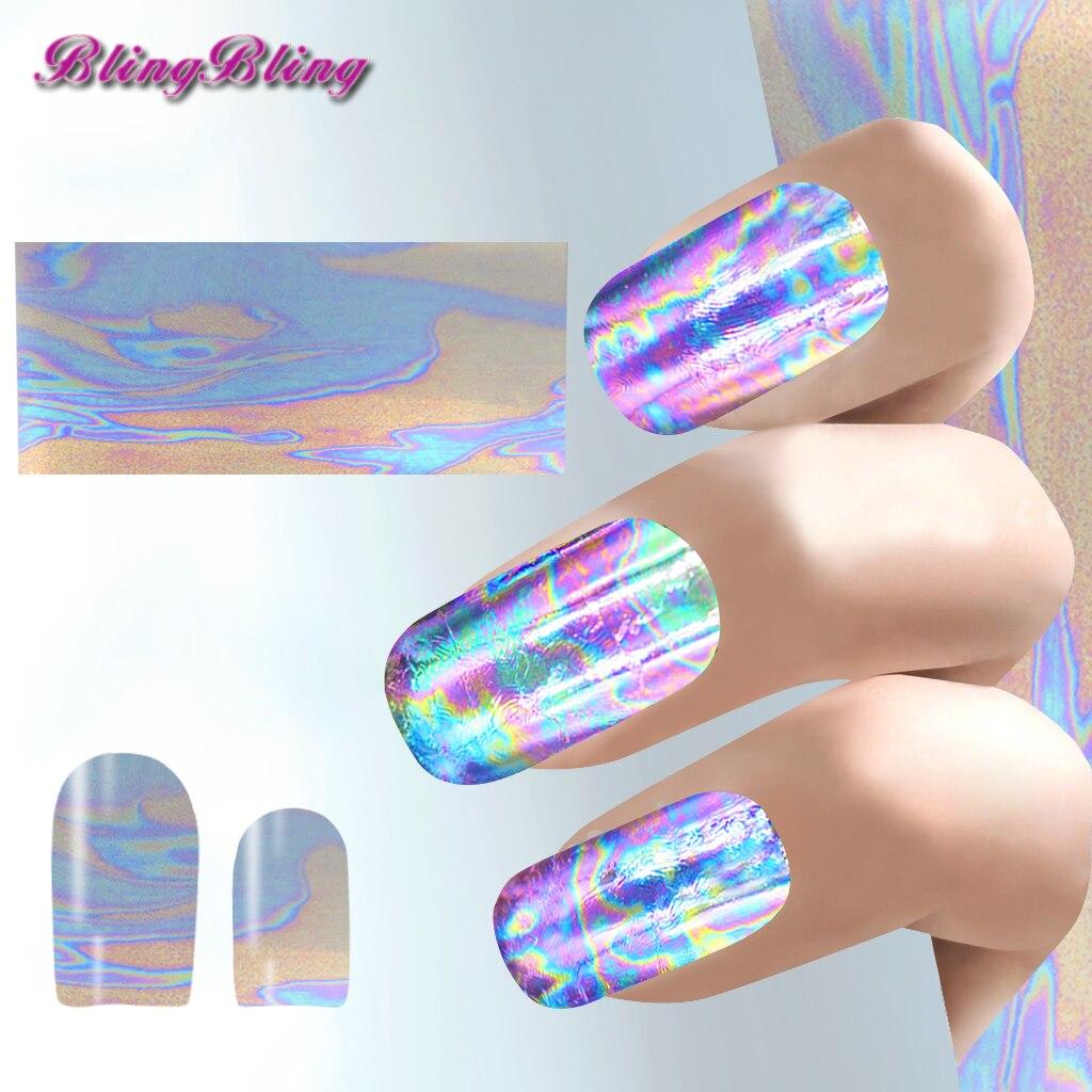 3 stücke Sparkle Shiny Nail Design Lila Chrome Folie Nail art ...