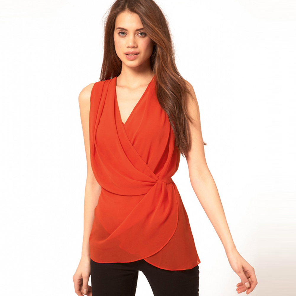 Compare Prices on Sleeveless Wrap Blouse- Online Shopping/Buy Low ...
