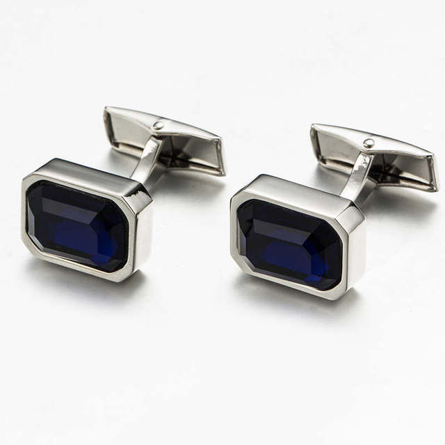 Vagula Luxury Cuff Links Copper French Shirt Cufflinks Gemelos Jewelry Blue Crystal Button 510
