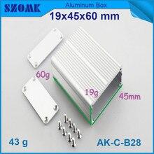 small aluminum instrument housing (10pcs) silvery heatsink control case box 19*45*60mm