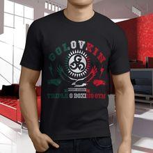 83170255bab New Popular Gennady Golovkin Ggg Team Boxer Men'S Black T Shirt S 4Xl(China)