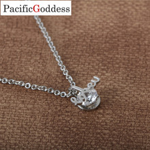 love word jewel necklaces pendant with CZ stone as best gift