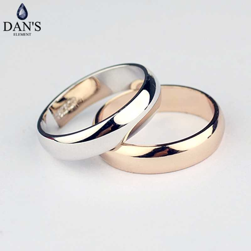 Dan's Element Brand  Real round Simple Couple Copper Gold Color Fashion Wedding Rings for Women healthy Top Quality  Fi-RG90696