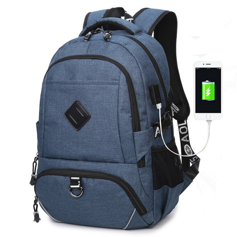 New Men Women Backpacks USB Charging Male Casual Back bag Travel Teenager Student back to School Notebook Laptop Back pack