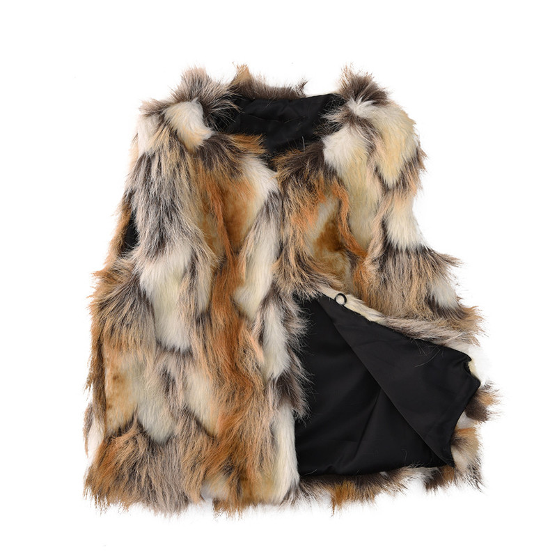 Per Baby Girls Artificial Fur Vest Soft Faux Fur Warm Waistcoat Sleeveless Jacket Coat for Toddlers Children Kids