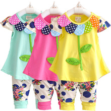 The little girls summer clothes, cartoon decals, 1-3 year old the new dress design in 20