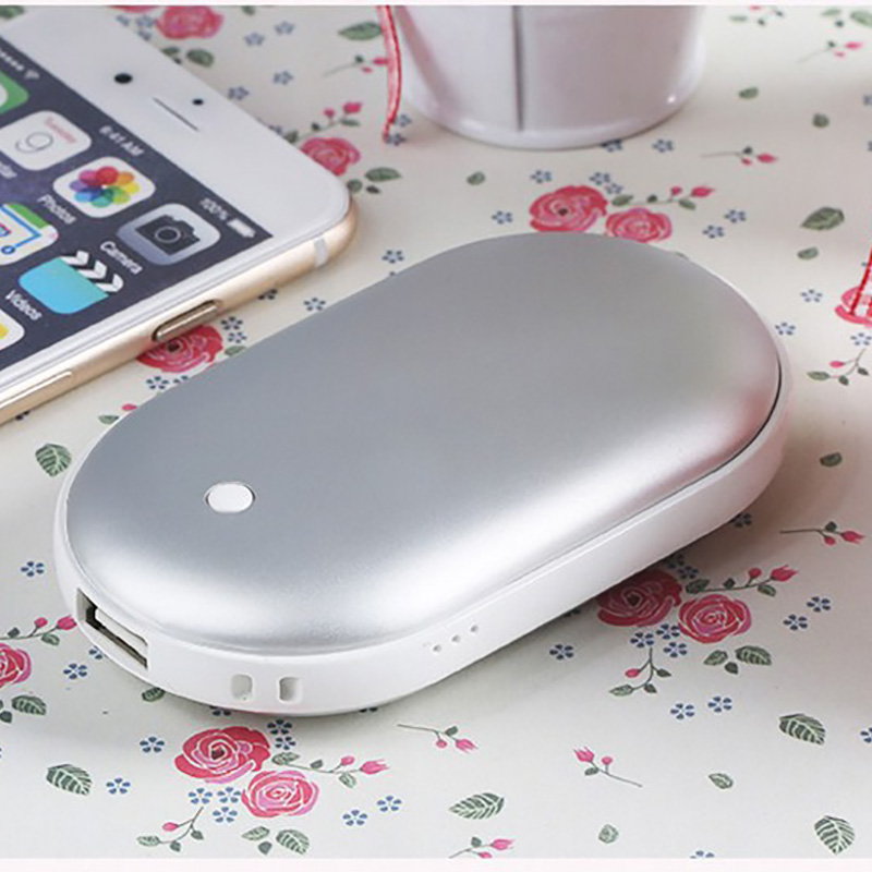 Christmas Gift Mini USB Hand Warmer Multi Function Portable Electric Hand Warmers Rechargeable Pocket Heater Power Bank 2 in 1