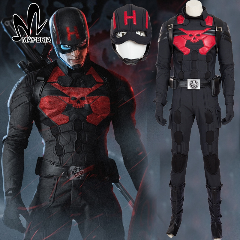 halloween costumes for adult men Captain America HYDRA cosplay costume Black Captain America ...