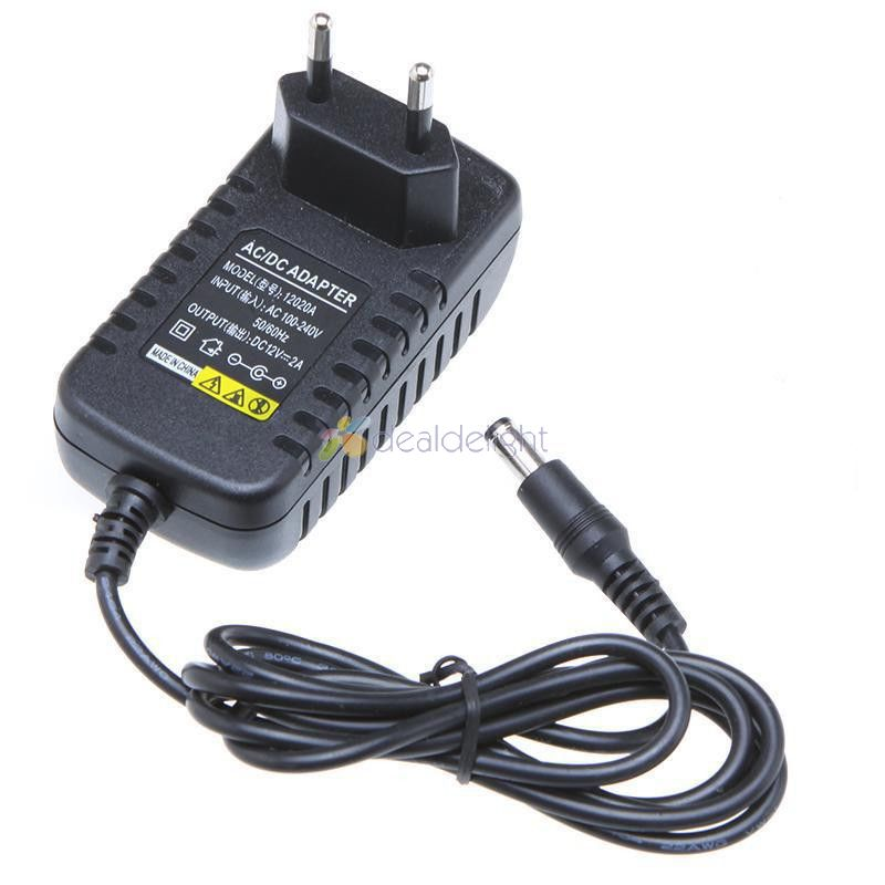 AC100-<font><b>240V</b></font> <font><b>to</b></font> <font><b>DC</b></font> <font><b>12V</b></font> 2A Adapter Switching Power Supply Charger EU/US/AU/UK Plug for Led Strip Lights/Security Cameras/Video image