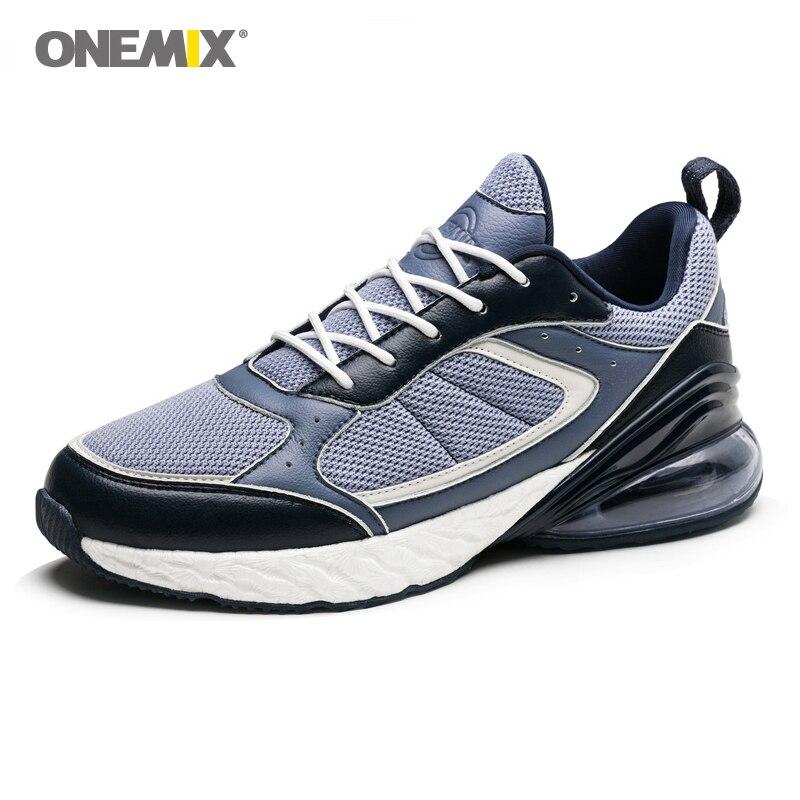 Onemix Autumn Winter Running Shoes Men Sneakers Air 270 Marathon Sneakers Rebound Elastic Flexible Midsole Anti-skid Outsole