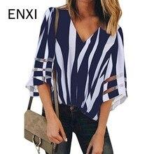 ENXI/8 цветов; летняя одежда для беременных женщин; шифоновые блузки для беременных; пикантные топы с v-образным вырезом; повседневные рубашки; Одежда для беременных