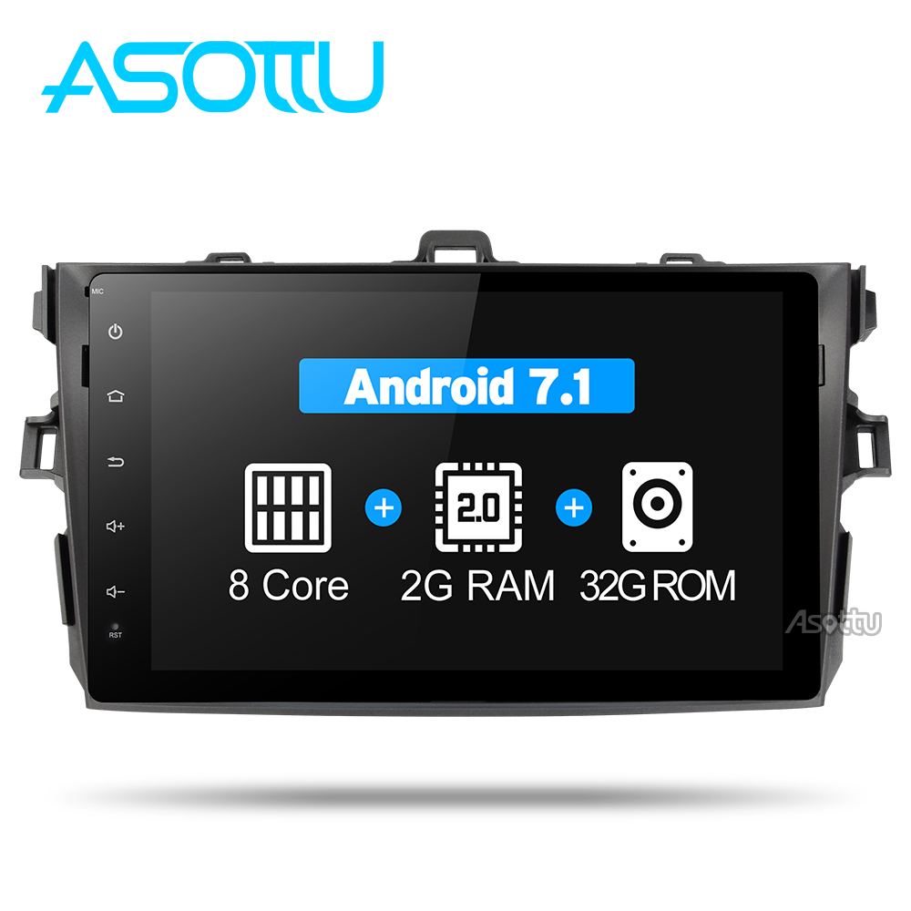 Asottu CLKLL9060 android 7.1 T8 car console car radio player for Toyota corolla 2007 2008 2009 2010 2011 car dvd gps navigation