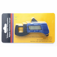 0-12.7mm Plastic Digital Thickness Meter Gauge Leather paper Craft Tools Accessories(China)