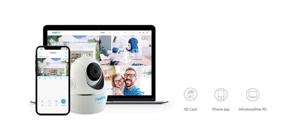 US $93 79 33% OFF|Reolink Baby Monitor WiFi Camera 4MP/5MP 2 4G/5G Full HD  Pan/Tilt/3x Optical Zoom Indoor Home Security C2 Pro 5MP-in Surveillance