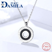 FOREVER LOVE letter pendant 925 Sterling Silver necklace For Women Rhodium plated silver choker jewelry necklaces for girls