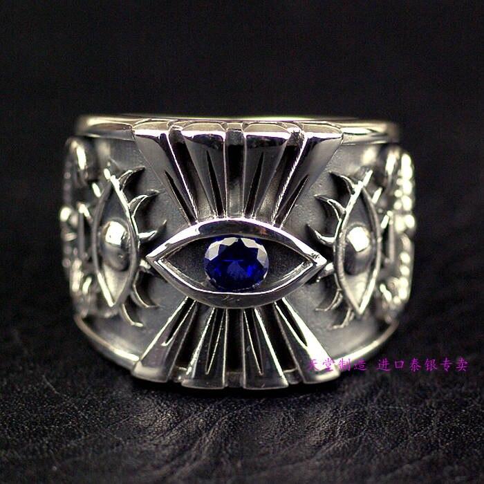 Thailand jewelry Pharaohs Eye Mens 925 Silver rings Thai Silver RingThailand jewelry Pharaohs Eye Mens 925 Silver rings Thai Silver Ring