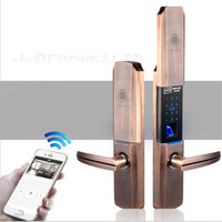 Fingerprint /Password/RFID Card /WIFI Remote Control Access Control Lock