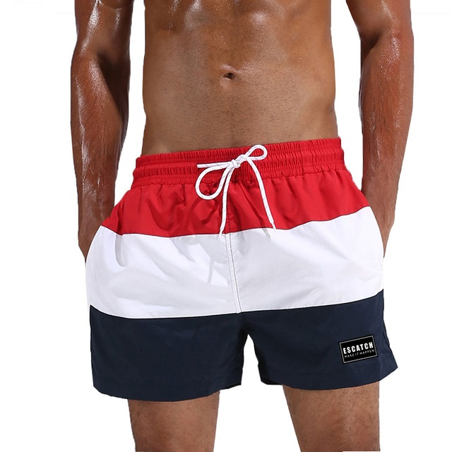 ESCATCH Boardshorts Men Surf Quick Dry Beach   Shorts   Mens Swimming   Shorts   Male   Board   Swimwear Seashore Swim   Short   with Mesh Liner