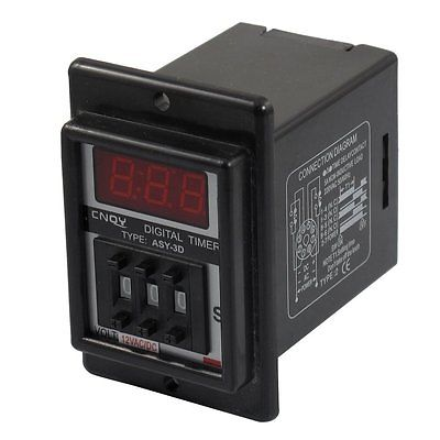 AC/DC 12V 0.1-99.9 Second Digital Timer Time Delay Relay Black 8 Pin ASY-3D