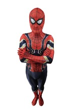 Men Spider Iron Spiderman Cosplay Costume Spandex Lycra Zentai bodysuits Iron Spider Men Halloween Costumes