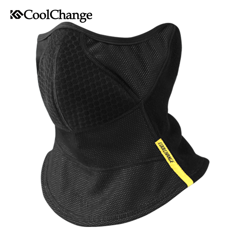 CoolChange Bicycle Winter Outdoor Sports Wind Cycling Face Mask Elastic  Neck Warm Snowboard Bike Face Half 397c77b0f