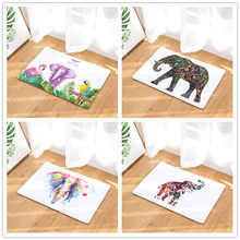 Elephant Style-Cetak Karpet Anti-Slip Tikar Outdoor Rugs-Pintu Depan Tikar 40X60or50x80cm(China)