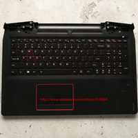 US 90%New laptop keyboard with touchpad plamrest for lenovo 15 rescuer 15isk English