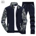 Tracksuit Men 2017 New Hoodies Set Men Camouflage Spring Fleece Men's Active Suit Sweatshirts Slim Fit Exercise Hoodie Pants Men