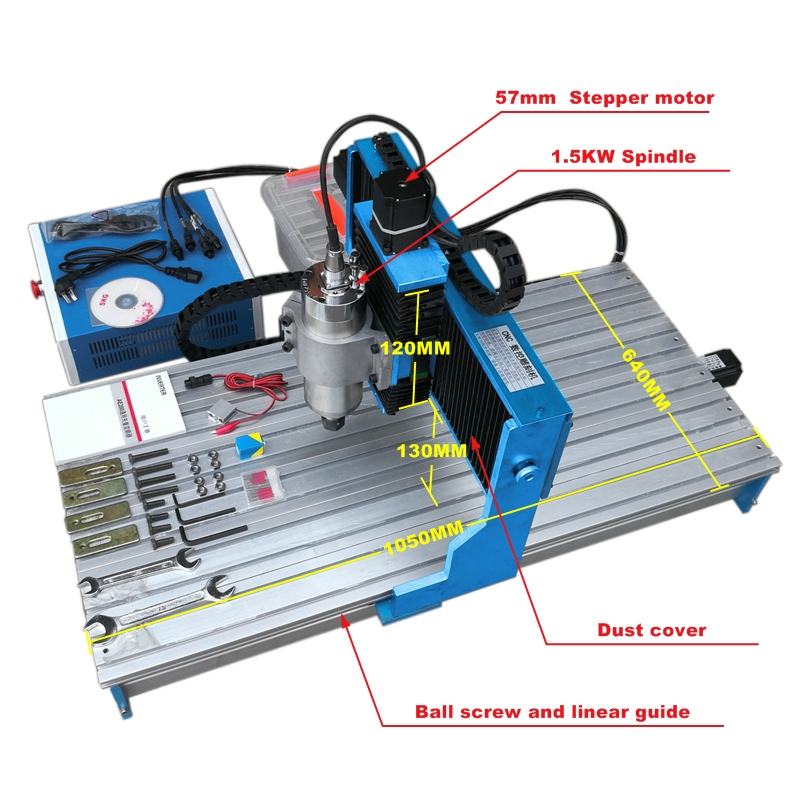 CNC router 9040L 1500W 4Axis Metal Engraving Machine linear guidewayCNC router 9040L 1500W 4Axis Metal Engraving Machine linear guideway