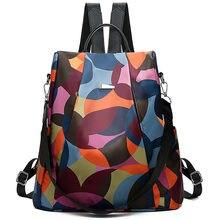17a0a5a31dc36 Mode Frauen Einfache Trend Oxford Student Tasche Weibliche Weiche Zipper  Tragbare Vielseitig Rucksäcke Reisetasche   YL