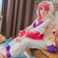 Pre Order Star Guardian LOL Lux Cosplay Costumes Wig Men Women Pajamas Uniforms for Halloween Party