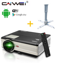 Android WIFI Google Airplay LED 1080P HD Home Projector Cinema Theater Movie VGA TV