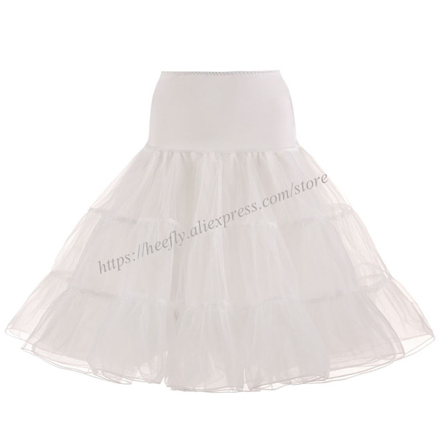 Tulle Skirts Womens Fashion High Waist Pleated Tutu Skirt Retro Vintage Petticoat Crinoline Underskirt Faldas Women Skirt saia 6