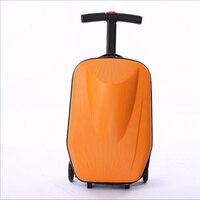 20 дюймов самокатов дело тележки 100% PC 3D экструзии деловых поездок багажа ребенок чашку box Путешествия case Сумки ролик чемодан