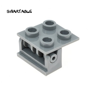 Smartable Hinge Brick 1x2 Base+ Hinge Brick 2x2 Building Blocks MOC Parts Brick Toys For Kids Compatible 3937+6134 40pcs/lot(China)