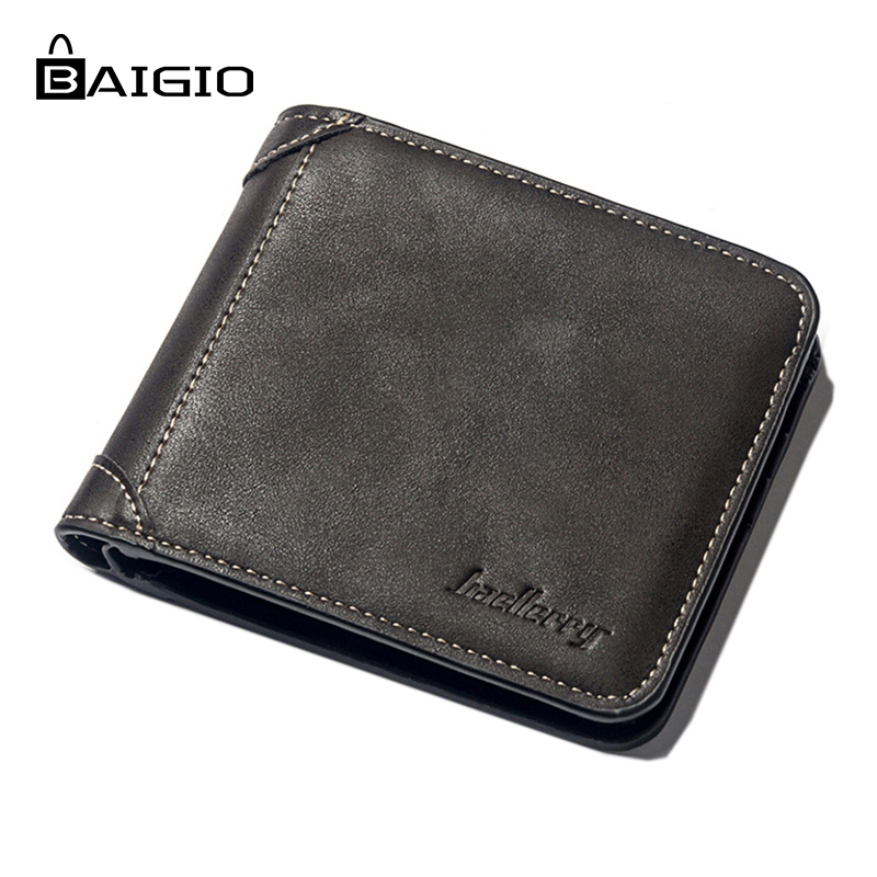 Baigio Mens Wallet 2018 New Fashion PU Original Leather Wallets Slim Money Clip Billfold Wallets For Men Passport Cover Purse ...