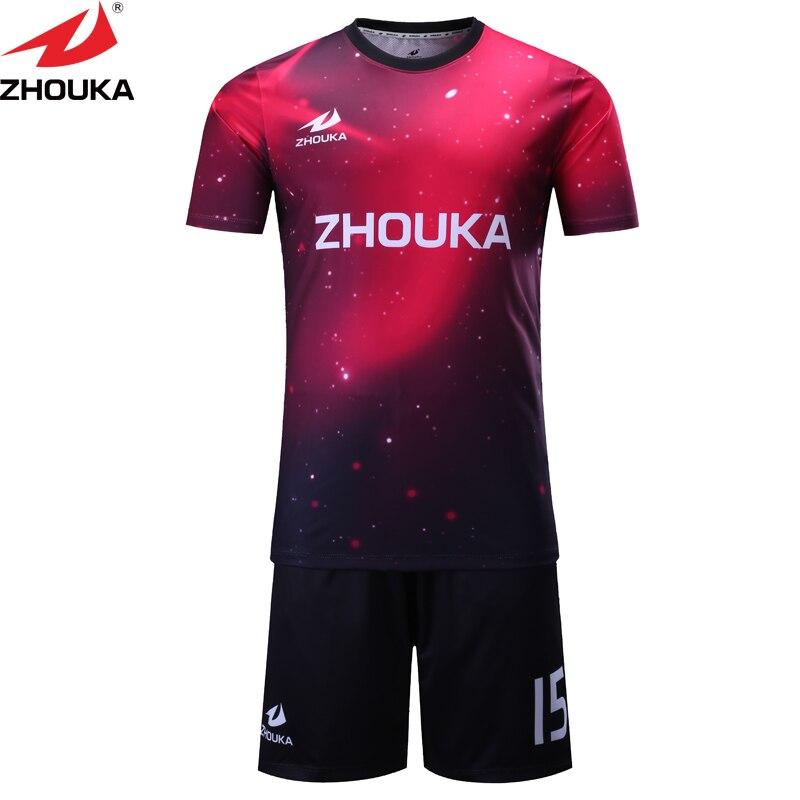 Commencer le maillot de football de modèle avec le nom personnel et l'impression de sublimation de numéro sur le maillot de football de fabricant de maillot de football