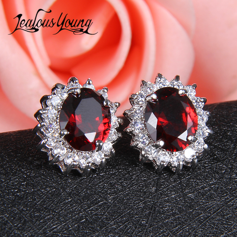 Elegant Five Color Crystal Options Summer Gift Party Cute Square Stone Stud Earrings For Women Party/Anniversary Bijoux AE319