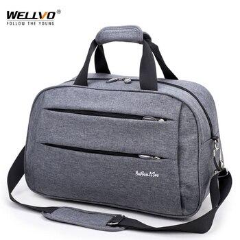 22b751358 Hombres bolsas de viaje bolsos de llevar en el equipaje de Nylon impermeable  de mano de viaje bolsa ocio Multi-función Bolso grande bolso de fin de  semana ...