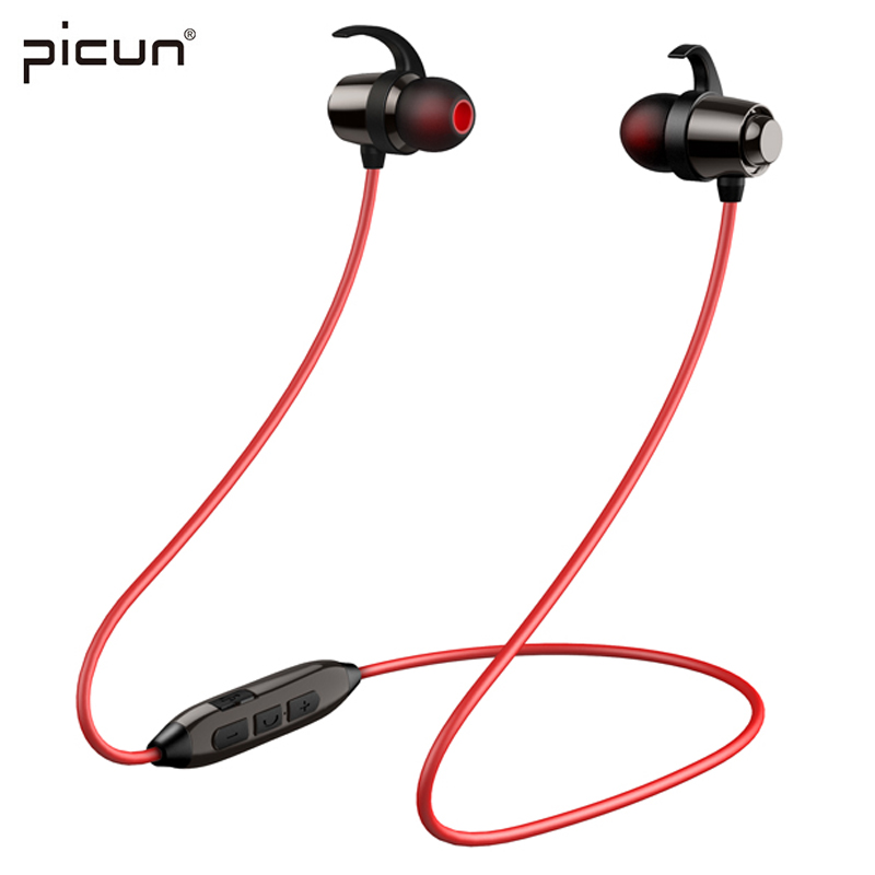 Picun H8 Bluetooth Headset Sports Eeaphone Waterproof Volume Control Wireless Earphones wth Mic Portable and Magentic Design