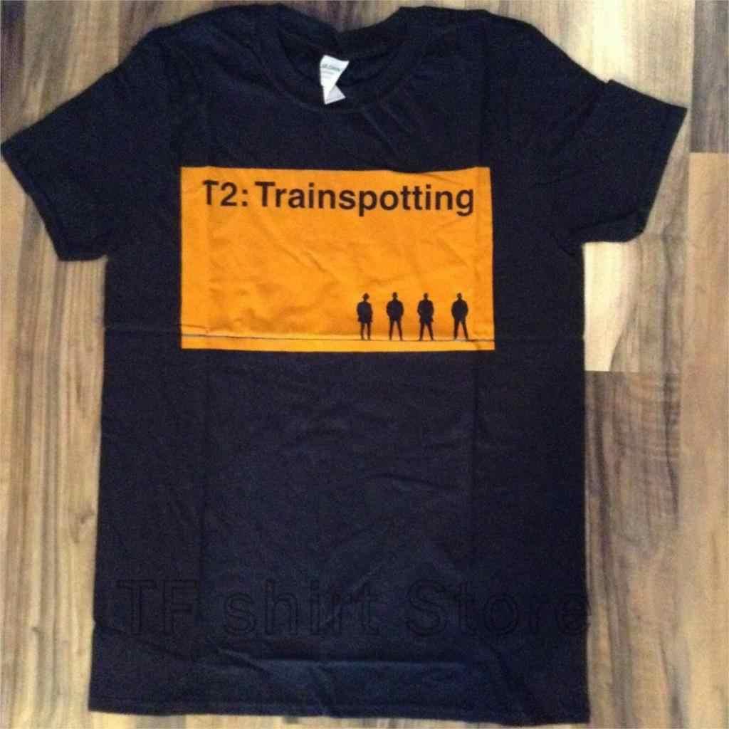 Фото Забавный принт для мужчин футболка женщин крутая s Ретро товары trainspotting 2 футболки