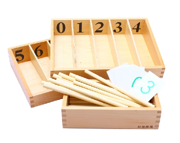 ФОТО Free Shipping!Baby Toys Montessori Spindle Box With 45 Spindles Kids Educational Early Learning Toys  Attached Paper Card