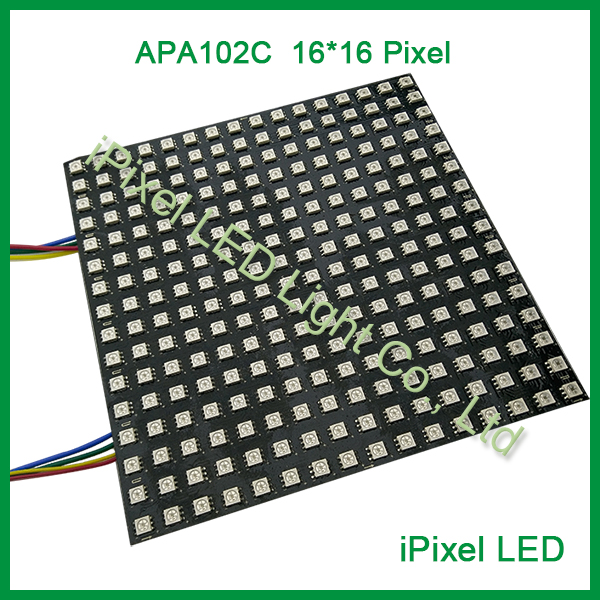 Newest screen flexible bendable IP20 APA102 RGB led matrix 256leds/pcs