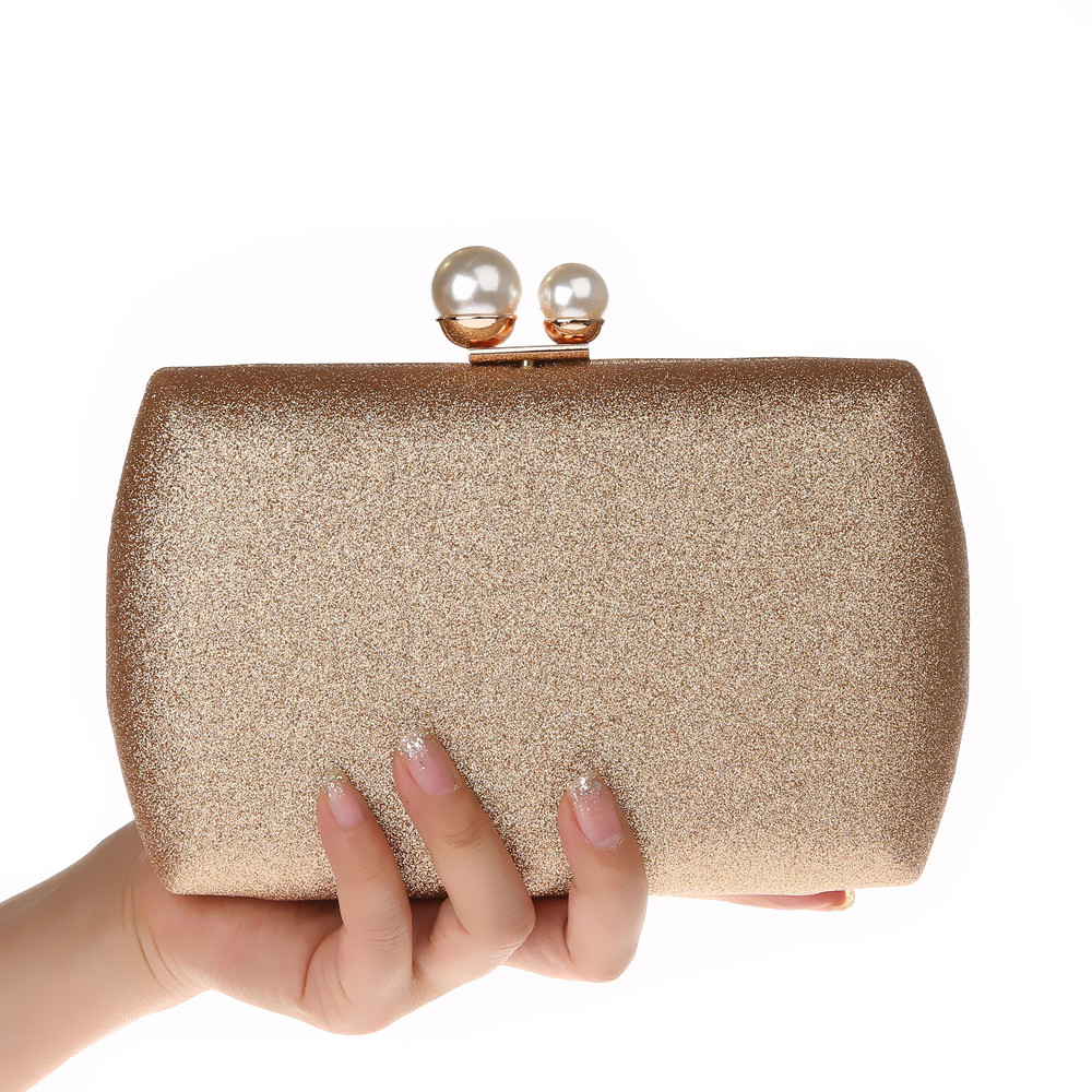 2018 Gold Silver Champagne Evening Bags Pearls Beaded Day Clutch Women's Purse Handbags Wallets Evening Wedding Clutches Bag