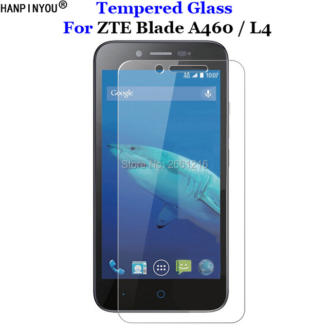cc658b4a4d5 For ZTE A460 Tempered Glass 9H 2.5D Premium Screen Protector Film For ZTE  Blade L4 / ZTE Blade A460 A 460 5.0