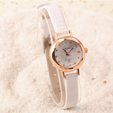 2017 Cindiry Leather Quartz Woman Watch Top Brand Elegant Fashion Small Dial Dress Ladies Watch Casual Simple Female Clock Gifts
