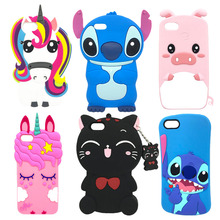 Cute 3D Silicone Case For Huawei Y5 Prime 2018 Cases Unicorn Stitch Cat Cartoon Phone Protective Cover DRA-L22 DRA-L02