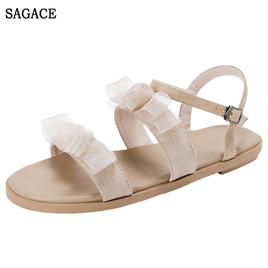 SAGACE Women Ladies Elegant Summer Open Toe Bow Knot Flat With Sexy High Quality Outsid Ladies Shoes Sandals Beach ShoesSAGACE Women Ladies Elegant Summer Open Toe Bow Knot Flat With Sexy High Quality Outsid Ladies Shoes Sandals Beach Shoes